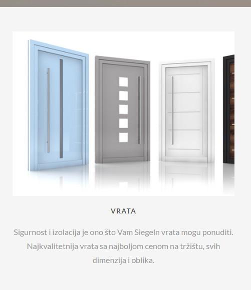 PVC Stolarija Sabac, PVC Stolarija Beograd, Aluminijumska vrata, PVC vrata, SObna vrata, vrata u boji