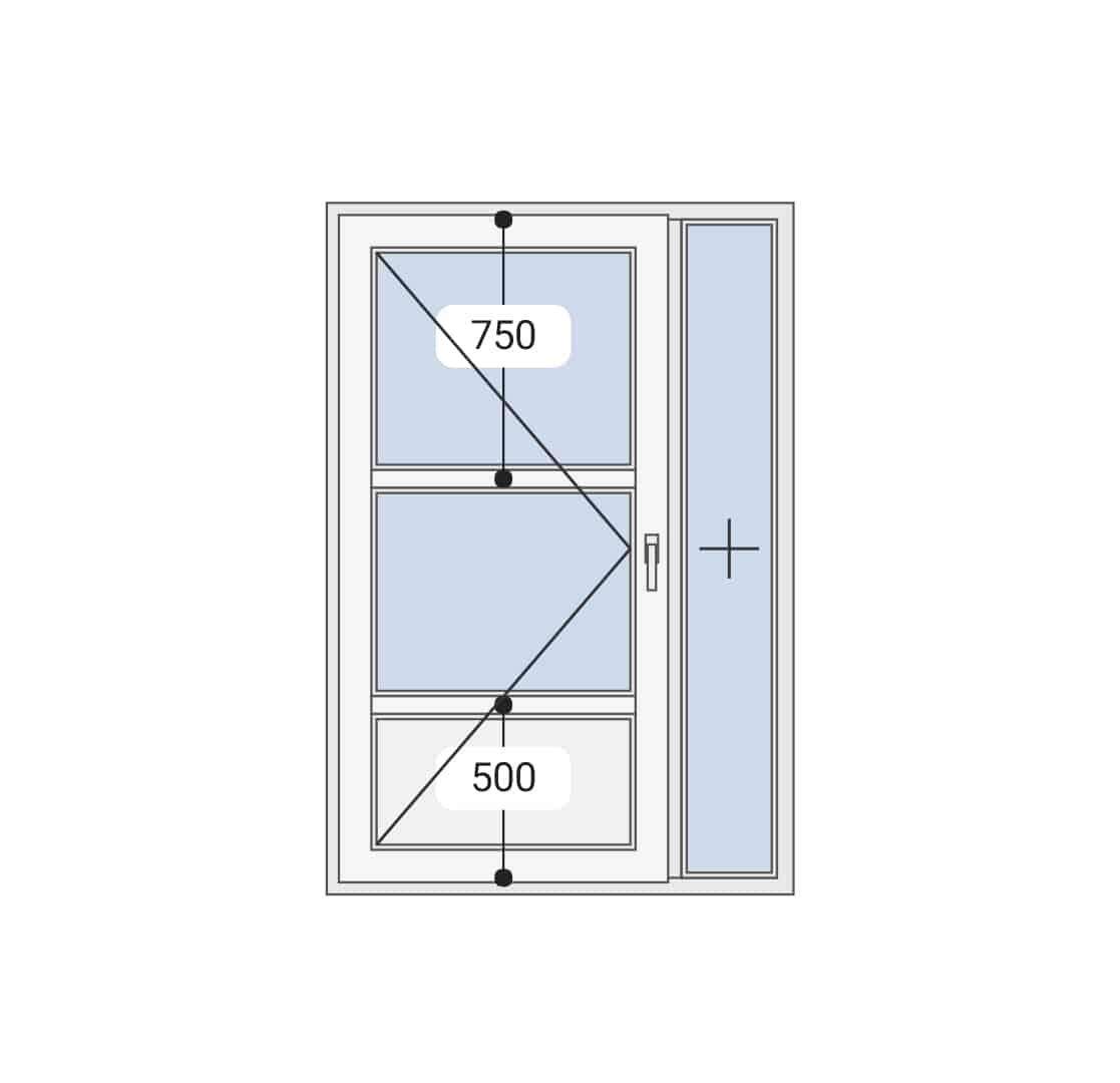 Jednokrilna vrata sa fiksom