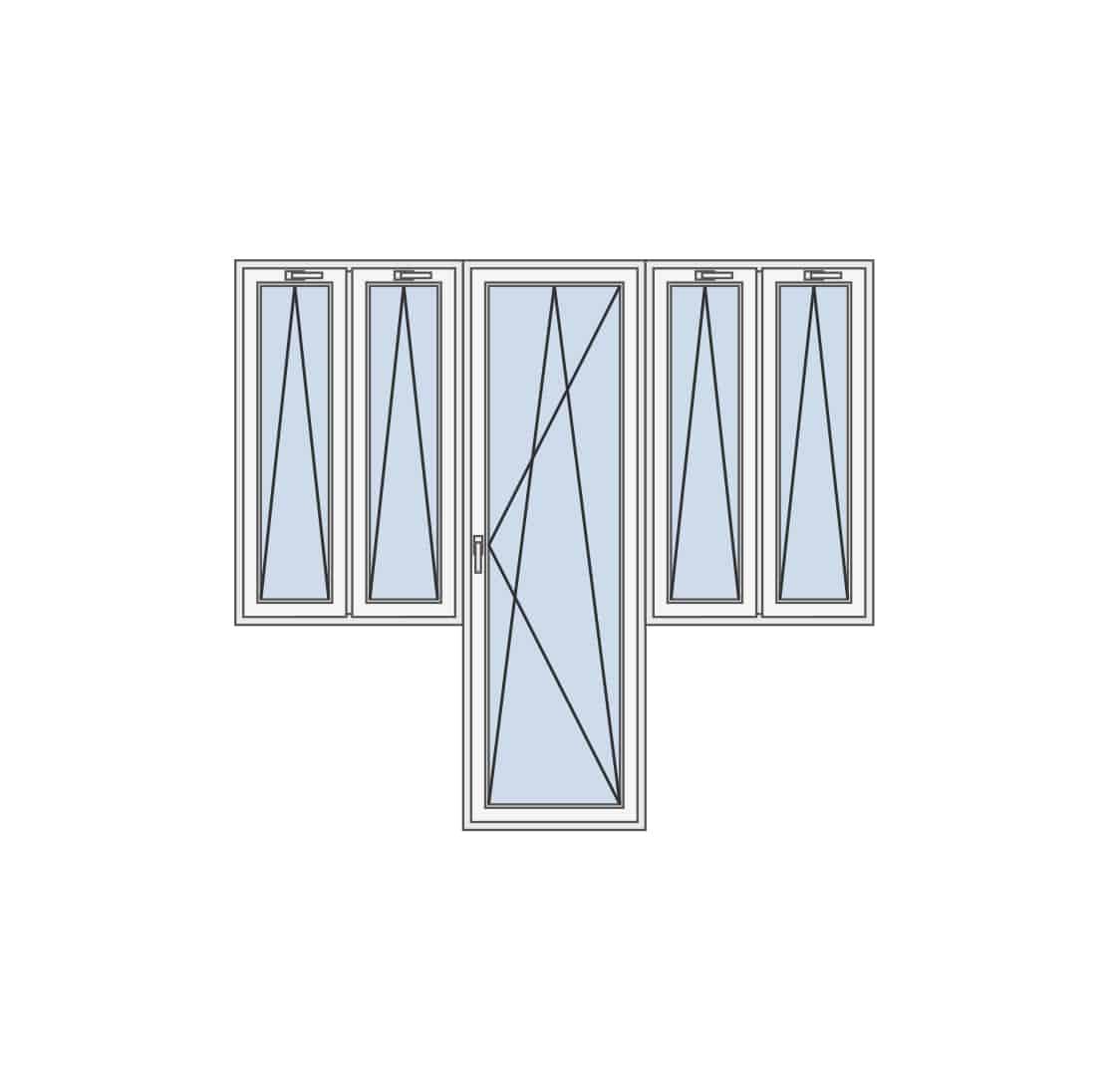 Balkonska vrata sa kombinacijom