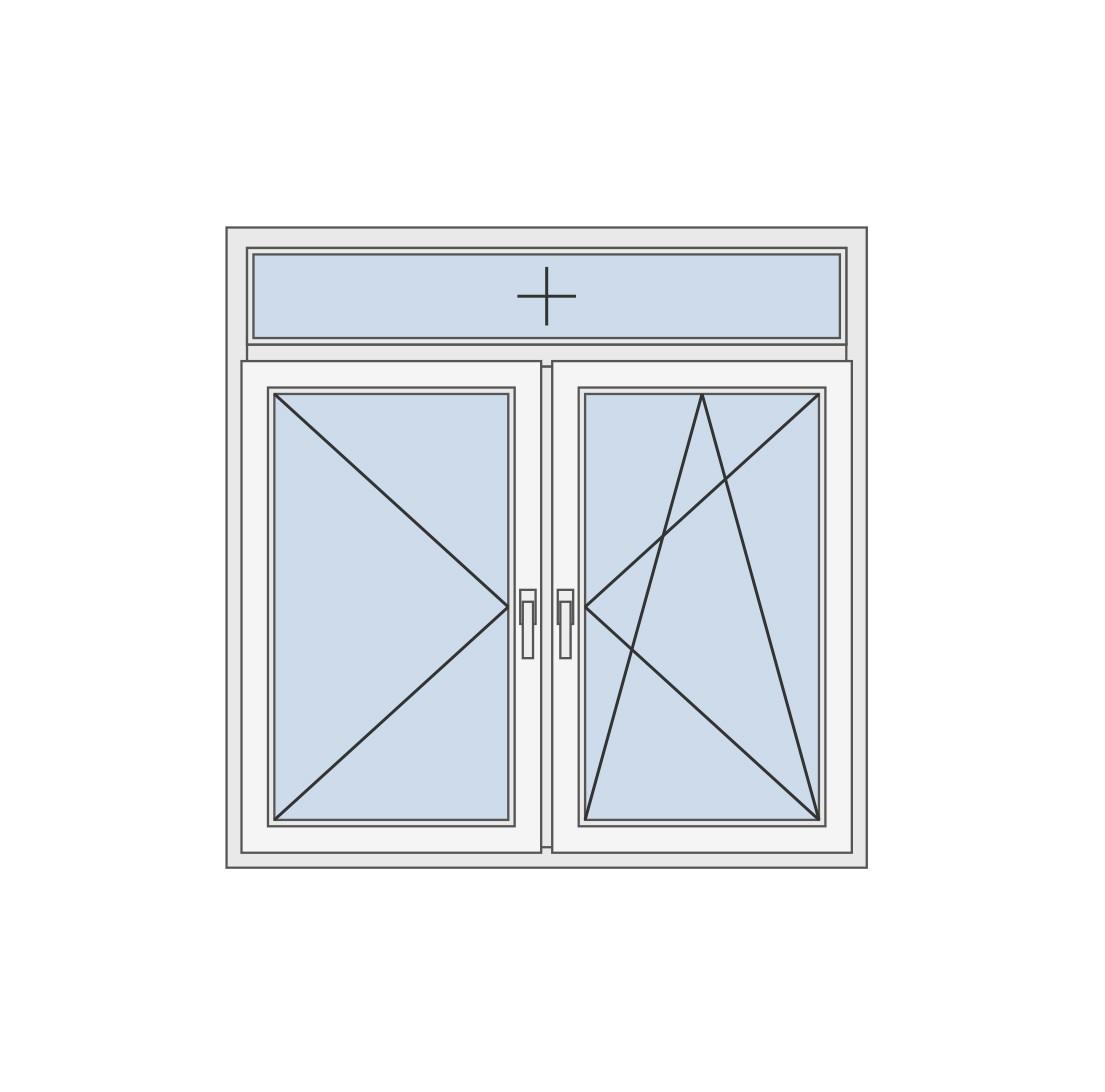 Dvokrilni prozor sa fiksom