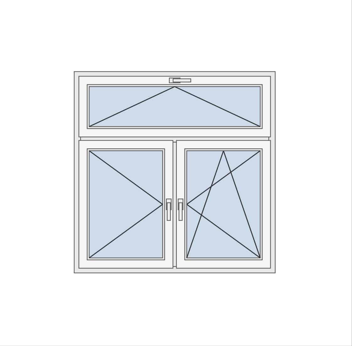 Dvokrilni prozor sa ventusom