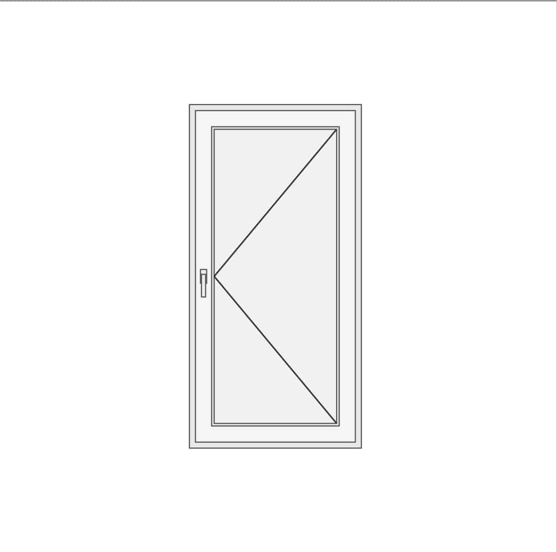 Jednokrilna vrata sa panelom