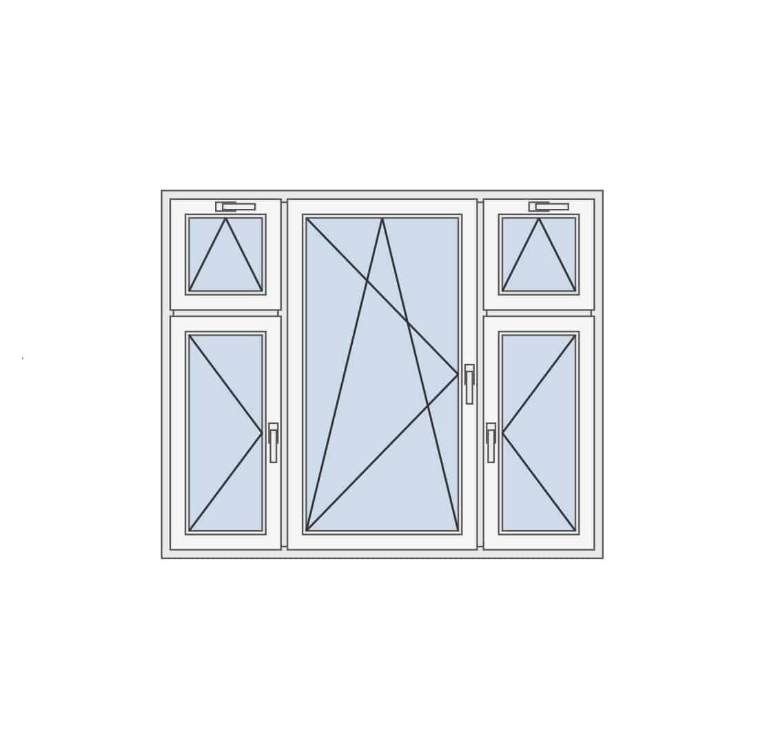 Trokrilni prozor sa kombinacijom