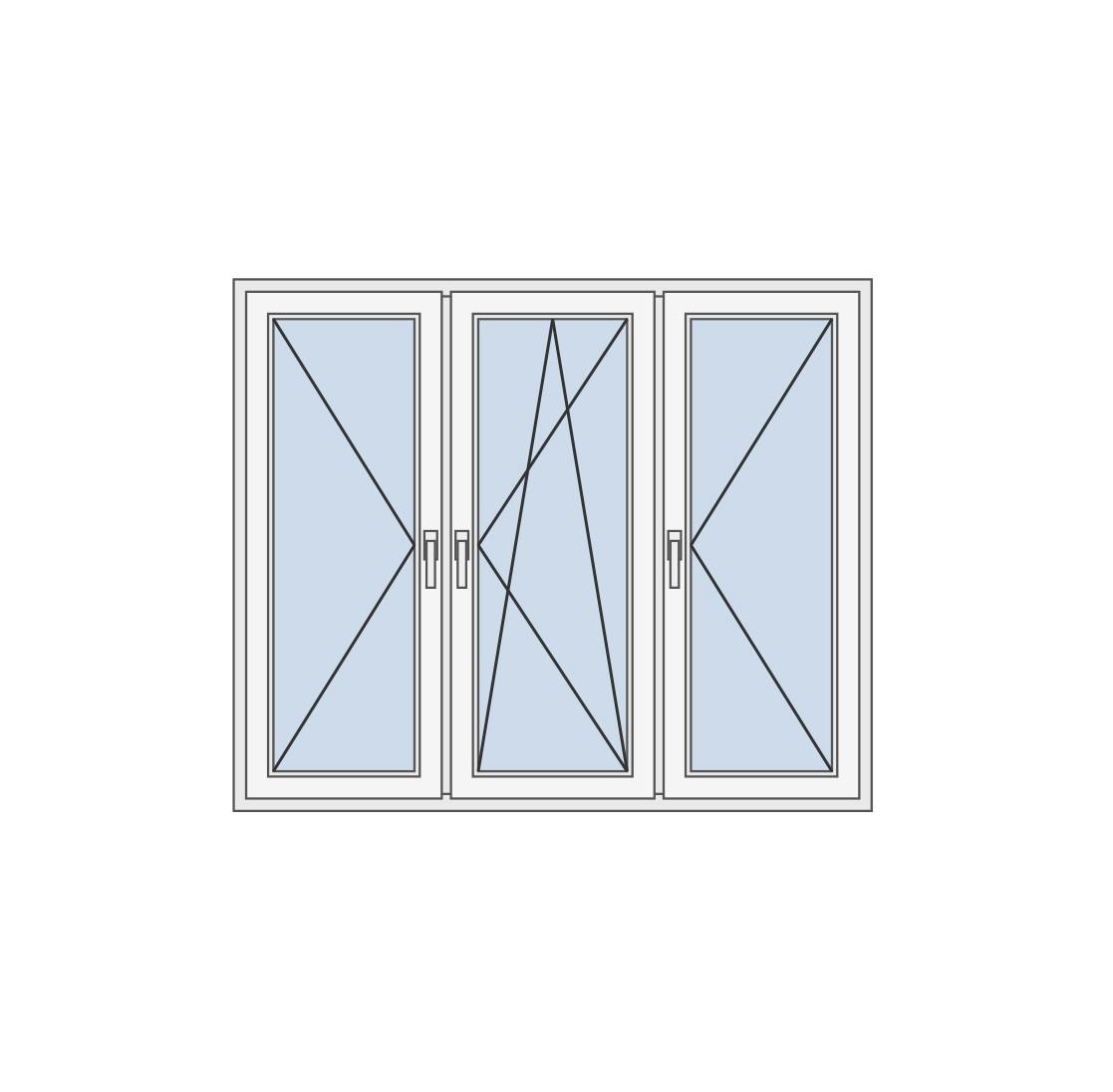 Trokrilni prozor